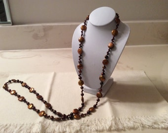 Bronze color Freshwater Pearl Necklace