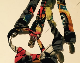 Custom Bow Tie & Suspender Set