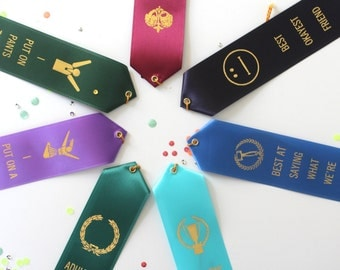 The BIG Party Pack - Set of 7 Adult Award Ribbons