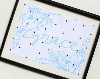Grace Polka Art Print