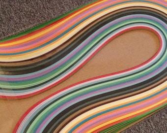 Multicolored quilling paper scrapbooking art, popular art technique filigree designs measures 3 mm length 380 260 units