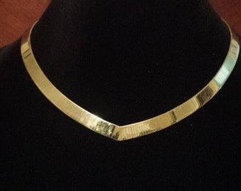 14K Yellow Italian Omega Necklace