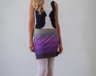 Maya Skirt, Color Block Skirt, Vintage, Retro, Mod