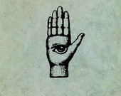 Hand with All Seeing Eye - Antique Style Clear Stamp
