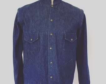 Vintage  late 1970s indigo denim jacket : gillet