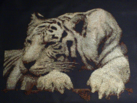 Cross stitched Tiger