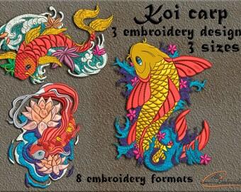 Japanese Koi Carps. Japanese motives.