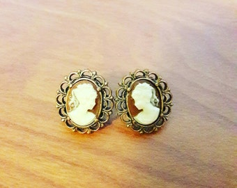 Lady Cameo Victorian Earrings