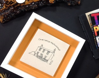 Personalised Painting of YOUR HOME from the 'HOME' range                     home //Framed//ceramics//Signs//Hand Made//personalised//gifts