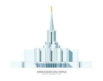 Jordan River Utah Temple (digital file)