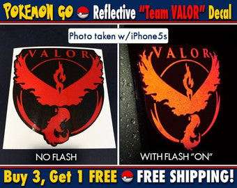 "Pokemon GO • ""Reflective Red"" Team Valor • Decal • FREE SHIPPING!!"