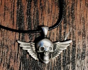 Winged Skull Pendant