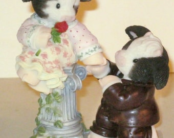"2   (two)  Mary Moo Moos- Enesco -""For-Heifer My Love"" - And ""Will Moo ?""----Two for One  Price--SEE  ALL  PHOTOS"