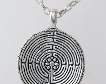 The Silver Labyrinth Pendant