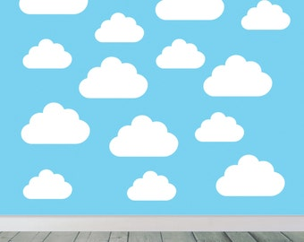 Set of Large clouds - Wall Art Decals, Children's Room Vinyl, Wall  Stickers