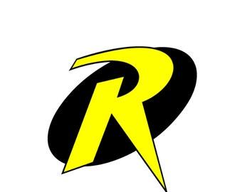 Robin Inspired Halloween Costume Logo Iron On Transfer