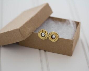 S&B .308 WIN Earrings Clear Crystal - Ready to Ship