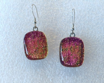 Fused glass earrings E69
