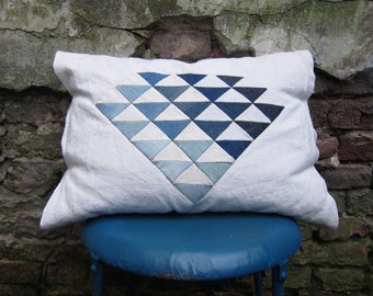 Diamond quilted pillow