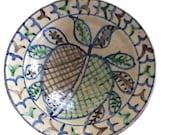 Vintage Afghan Ceramic Bowl/Hand Painted/Hand Made