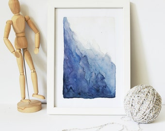NOT PRINT Framed watercolor Original painting Abstract watercolor painting Framed Original abstract landscape Framed Wall art Framed Art