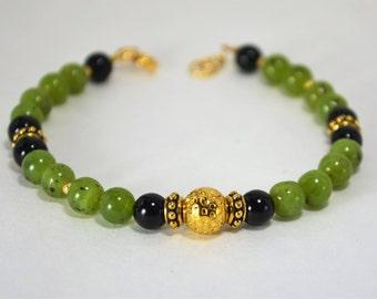 Green Canadian Jade Bracelet