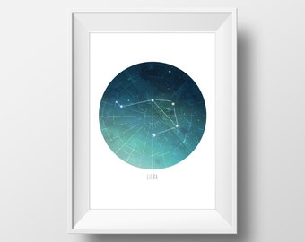 Libra Constellation Print