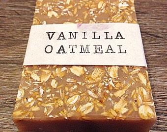Oatmeal Soap & Vanilla Soap: Oatmeal Soap Bar, Oatmeal Bar Soap, Vanilla Oatmeal Soap, Oatmeal Vanilla Soap, Vanilla Bean Soap