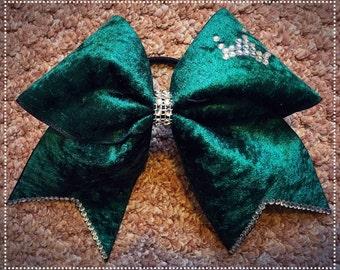 Green Velvet Bow