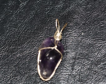 Sterling Silver wire wrapped Amethyst gemstone