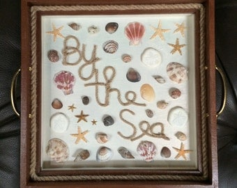By The Sea Decorative Serving Tray or Shadow Box