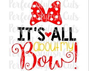 It's All About My Bow SVG, DXF, EPS, png Files for Cutting Machines Cameo or Cricut - Girl svg files, Bow Svg, Cheer Svg, Cheerleading Svg