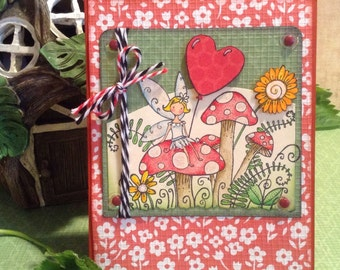 Fairy Garden Card, Birthday Card, Fairy Stationary Notecard, All Occassion, Just Because