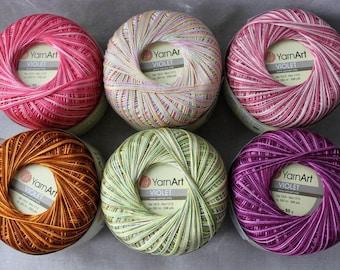 Melange cotton yarn for knitting, lace yarn, crochet yarn, mercerized cotton, melange yarn, yarn for sale, crochet thread
