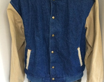 Three Rivers Denim Vintage Style MADE IN USA Mens Denim Jacket Size Small  Exelent  condition