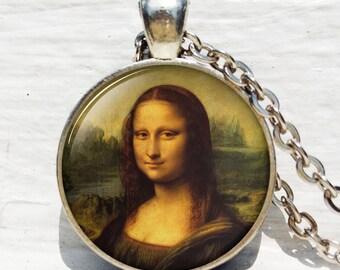 Da Vinci The Mona Lisa - La Gioconda - Classic Art Jewellery - Classic Art Pendant - Mona Lisa Pendant - Mona Lisa Necklace - Gift for Art