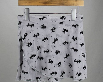 "12"" Even Hem ""Velvet Poodles"" Chiffon Ballet Wrap Skirt - Limited Edition!"