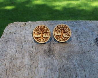 Tree Of Life Timber Earrings