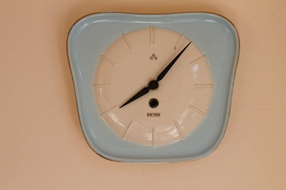 50s German Kitchen Clock / Wall Clock / Fifties / Peter
