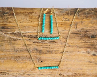 Gold and Turquoise Jewelry Set
