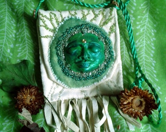 Green Woman Medicine Pouch