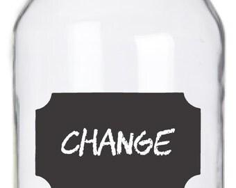 Mason Jar Chalkboard Labels - 14 Vintage Labels
