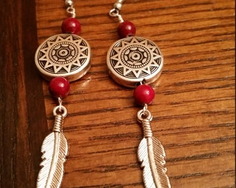 Handmade Feather Earings