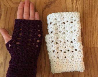 Fingerless Gloves, Handmade Crochet