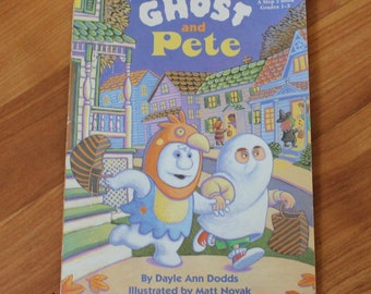 """Vintage 1995 Dayle Ann Dodds """"Ghost and Pete"""" Step Into Reading paperback storybook;Kid books;Halloween storybooks;Vintage children's books"""
