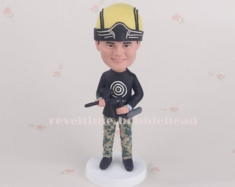 Unique gift  Personalized customm polymer clay toppers  Funny cartoon groom figure figurines