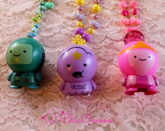 Adventure Time Necklaces: BMO, Lumpy Space Princess, Princess Bubblegum- Cosplay Jewelry