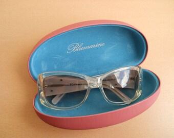 Vintage BLUMARINE Sunglasses. Oversized Frame. Designer Sunglasses. Made in Italy. 80s