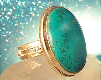 Gypsy Witch Turquoise Ring