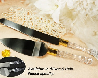 Personalized Wedding Knife and Cake Server Set